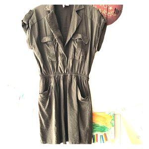 {Sz M, MNG} Olive Green Cargo Top/Dress w/Pockets